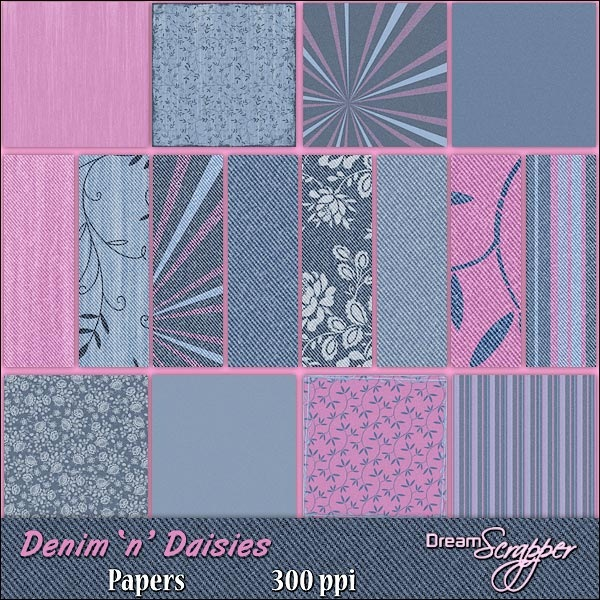 Denim 'n' Daisies Papers