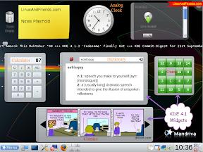 KDE 4.1.2 Plasmoids on Mandriva One 2009