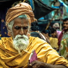 on the way by Sudeshna Sarkar - People Portraits of Men