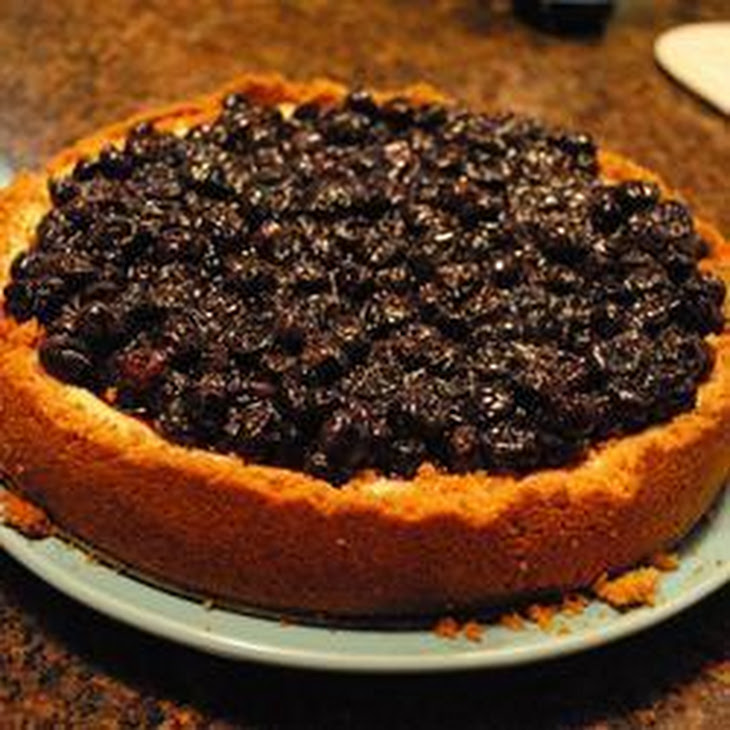 British Cheesecake With Warm Blueberries Recipes — Dishmaps
