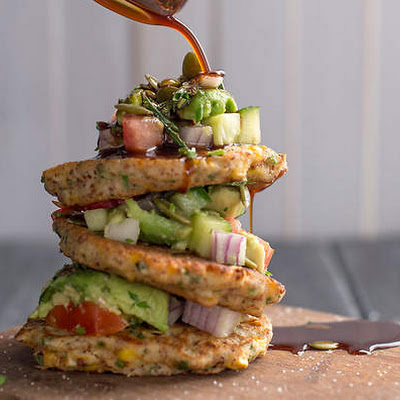 Corn Fritters With Avocado Salsa