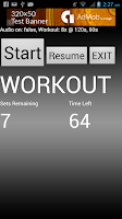 Screenshot of Vocal Workout Timer