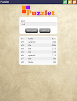 Screenshot of Puzzlet