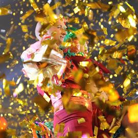 Confetti Man!!  by Geoffrey Cachia - People Street & Candids