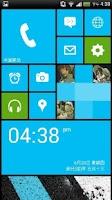 Screenshot of Launcher 8 theme Nokia Blue