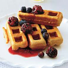 Whole-Wheat Peanut Butter Waffles