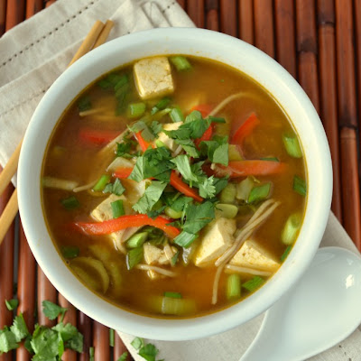 Asian Noodle Soup To Cure a Cold (Vegan)