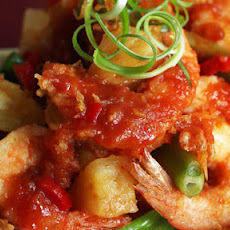 Beer Battered Prawns In A Sweet And Sour Sauce