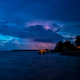 Storm Behind The Clouds by John Goff - Landscapes Weather ( oriental, sunrise )