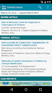 Pediatric Oncall Journal - screenshot