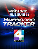 Screenshot of WJXT Hurricane Tracker