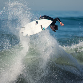 Full Blown Action by Mark Ahrens - Sports & Fitness Surfing ( choka, water, sand, california, charging, pacific, ahrens, beach, samoa, sun, acrobatic, season, surfing, wave, humboldt, surf )