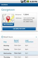 Screenshot of USPS MOBILE®