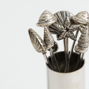 Pickle Forks by John Ogden - Artistic Objects Other Objects ( forks, silver, utensils, party, cocktails )