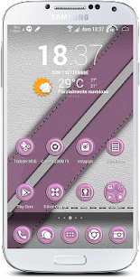 Leather Pink Theme - screenshot