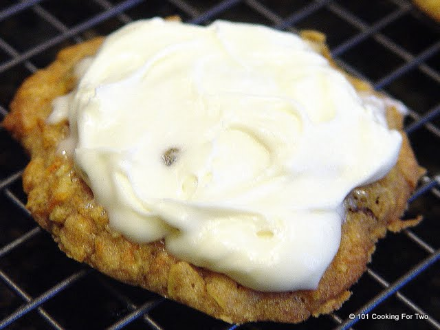 carrot cake cookies with cream cheese frosting from 101 cooking for ...