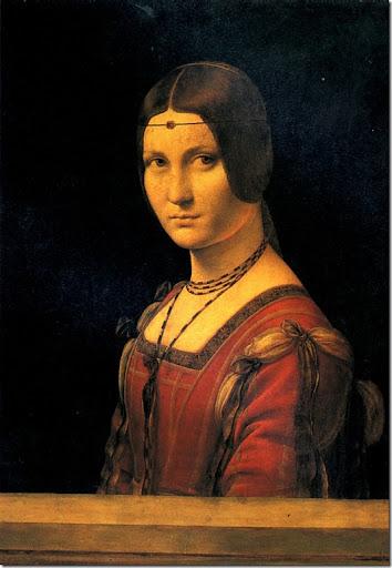 Leonardo di ser Piero DA VINCI - Portrait de femme, dit La Belle Ferronnière