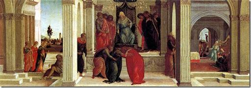 Alessandro FILIPEPI dit BOTTICELLI - Trois scènes de l'histoire d'Esther