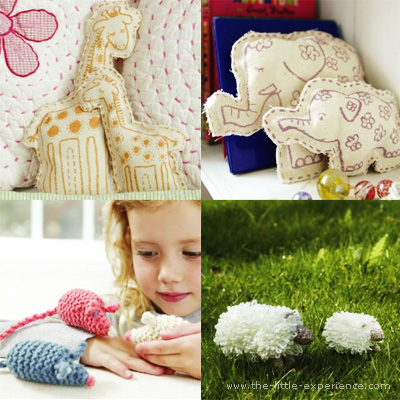 Creative kits - knitting, building, stitching - for children