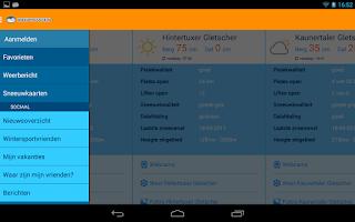 Screenshot of Sneeuwhoogte.nl