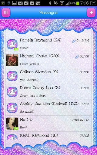 GO SMS - Sparkle Pastel Sky 2