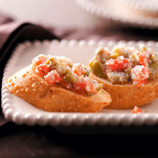 Olive & Roasted Pepper Bruschetta