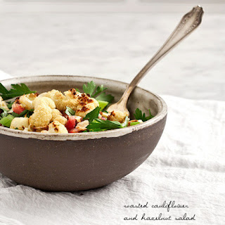 Roasted Cauliflower Hazelnut Salad