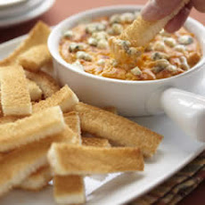 Buffalo Chicken Cheese Dip with Wonder Bread Fingers