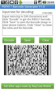 Screenshot of PDF417 Barcode Generator