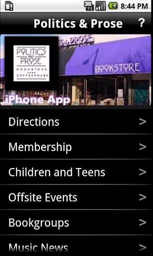 Politics and Prose App