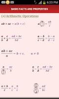 Screenshot of Mathematical Formulae
