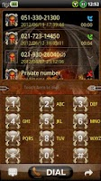 Screenshot of GOContacts theme DRAGON