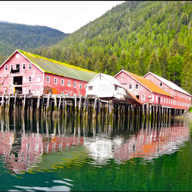 Reflections by David Salmon - Buildings & Architecture Decaying & Abandoned ( hdr, alaska, reflections, old building, decay )
