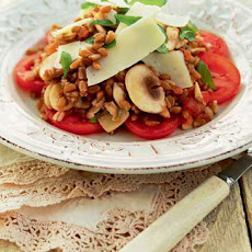 Farro, Mushrooms And Tomatoes