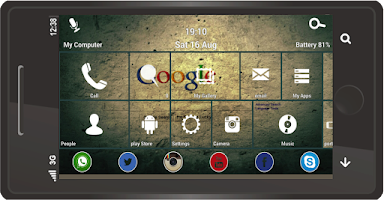 Screenshot of Note+ Launcher 8 Free