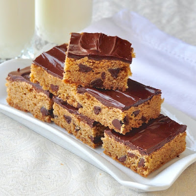 The Easiest Chocolate Chip Squares
