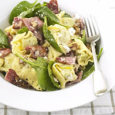 Tortellini With Ricotta, Spinach & Bacon
