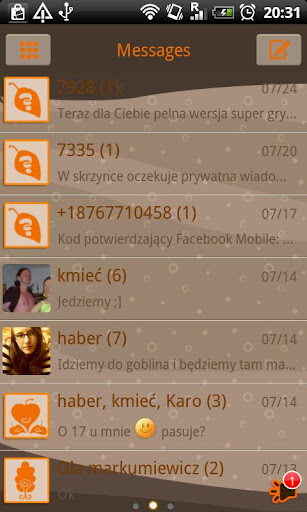 GO SMS Pro Autumn Theme