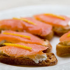 Smoked Salmon and Goat Cheese Toasts