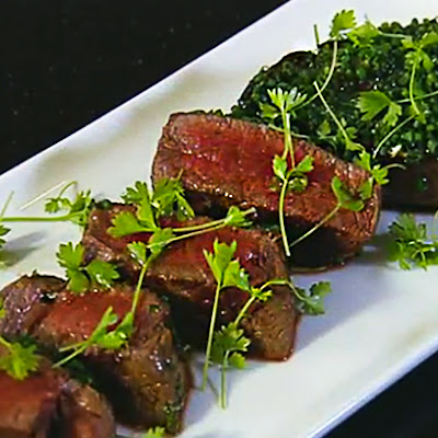Fillet Steak with Mustard and Chives