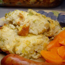 Potatoes With Leeks and Gruyere