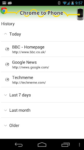 google-chrome-to-phone for android screenshot