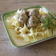 Swedish Meatballs In Dill Cream Sauce