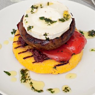Goat Cheese And Polenta Stack
