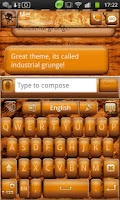 Screenshot of Go Keyboard Industrial Grunge