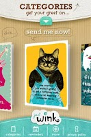 Screenshot of justWink Greeting Cards INTL