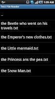 Screenshot of uBook text reader