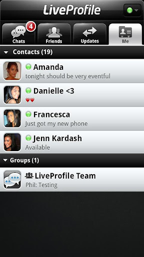 liveprofile for android screenshot