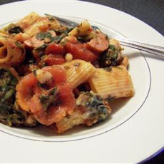 Bean and Sausage Rigatoni