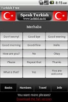 Screenshot of Speak Turkish Free